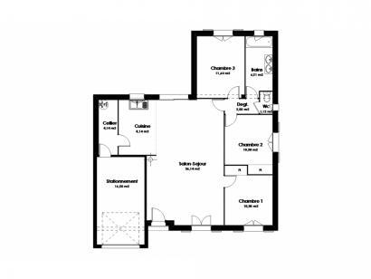 Modèle de maison Maison Traditionnelle - Tradi12 3 chambres  : Photo 2