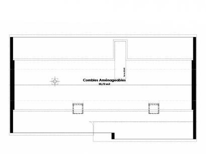 Plan de maison Maison Traditionnelle - Tradi5 3 chambres  : Photo 2