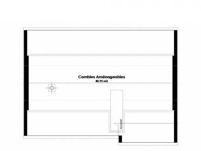 Plan de maison Maison Traditionnelle - Tradi6 2 chambres  : Photo 1