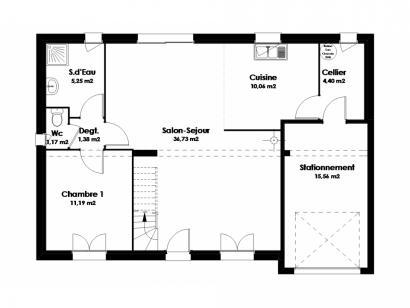 Modèle de maison Maison Traditionnelle - Tradi8 4 chambres  : Photo 2