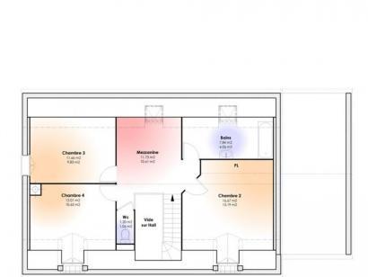 Plan de maison Maison Contemporaine - Archi12  : Photo 1