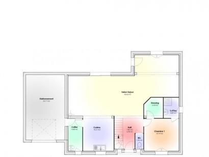 Plan de maison Maison Contemporaine - Archi13  : Photo 1