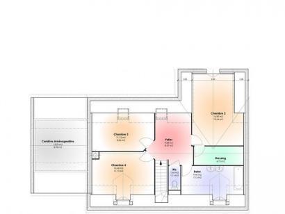 Plan de maison Maison Contemporaine - Archi13  : Photo 2