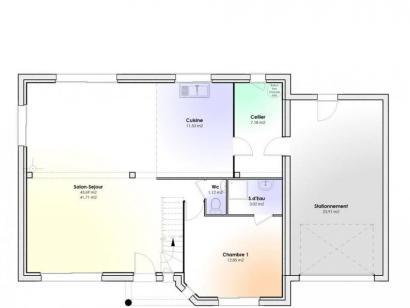 Plan de maison Maison Contemporaine - Archi3  : Photo 1