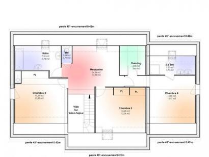Plan de maison Maison Contemporaine - Archi3  : Photo 2