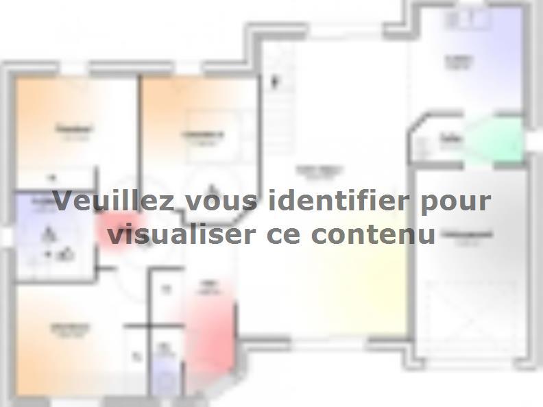 Plan de maison Maison Contemporaine - Archi2 : Vignette 1