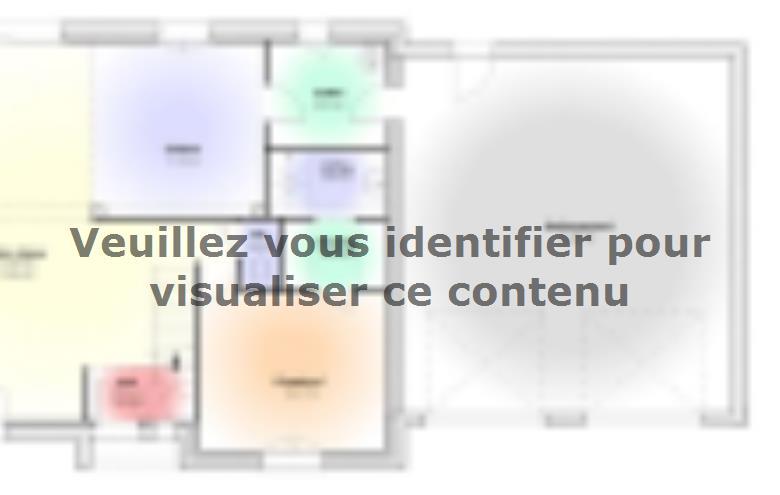 Plan de maison Maison Contemporaine - Archi11 : Vignette 1