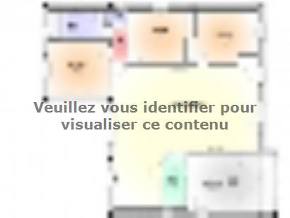 Plan de maison Maison Contemporaine - Archi15 3 chambres  : Photo 1