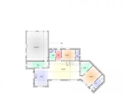 Plan de maison Maison Contemporaine - Archi10  : Photo 1