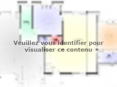 Plan de maison Maison Contemporaine - Archi4 4 chambres  : Photo 1
