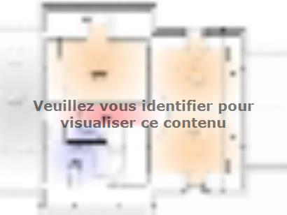 Plan de maison Maison Contemporaine - Archi4 4 chambres  : Photo 2