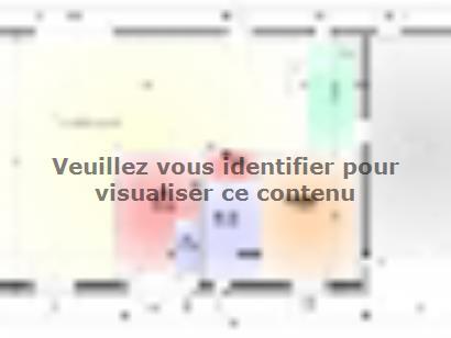 Plan de maison Maison Contemporaine - Archi5 4 chambres  : Photo 1