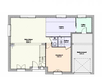 Plan de maison Maison Contemporaine - Archi24  : Photo 1
