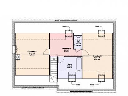 Plan de maison Maison Contemporaine - Archi24  : Photo 2