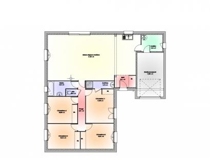 Plan de maison Maison Contemporaine - Archi26  : Photo 1