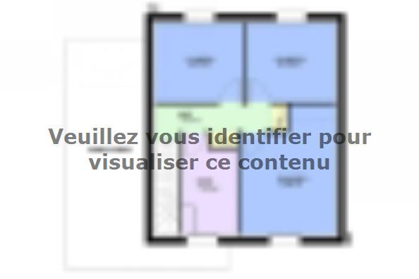 Plan de maison AMETHYSTE contemporain 3 chambres  : Photo 2