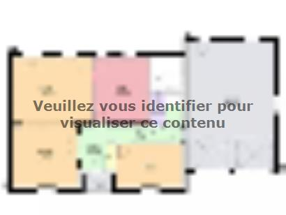 Plan de maison EMERAUDE contemporain  : Photo 1