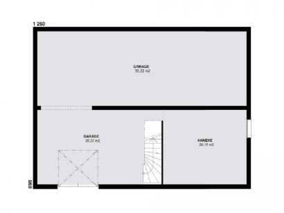Plan de maison TOPAZE SOUS SOL contemporain  : Photo 1