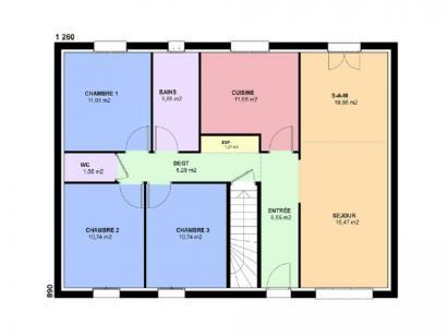 Plan de maison TOPAZE SOUS SOL contemporain  : Photo 2