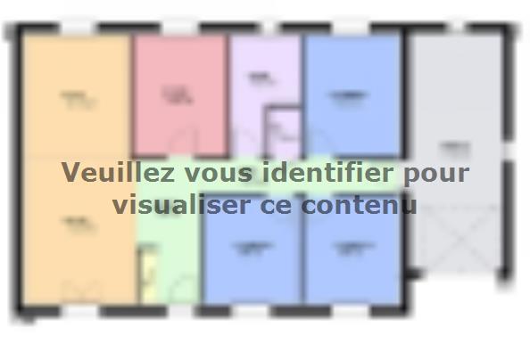 Plan de maison TOPAZE VS contemporain  : Photo 1
