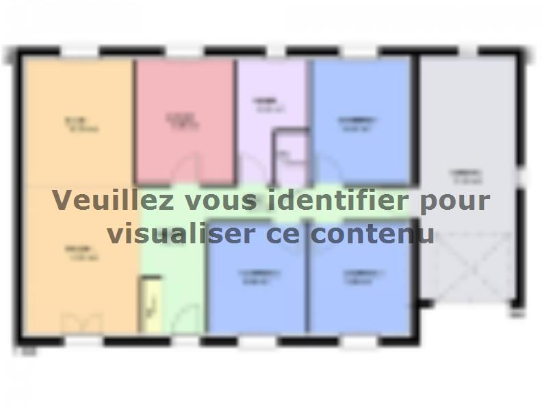 Plan de maison TOPAZE VS contemporain : Vignette 1