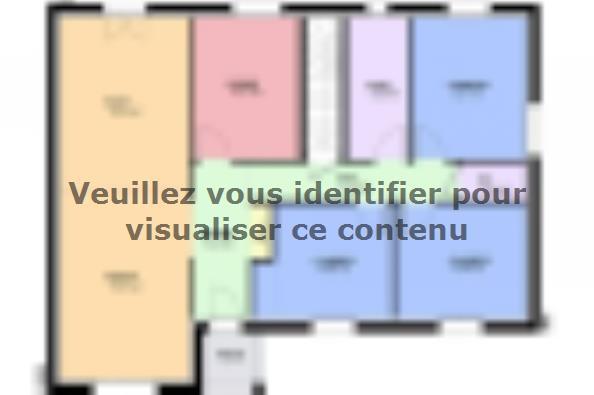 Plan de maison TURQUOISE SOUS SOL contemporain  : Photo 2