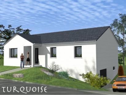 Modèle de maison TURQUOISE SOUS SOL contemporain  : Photo 1