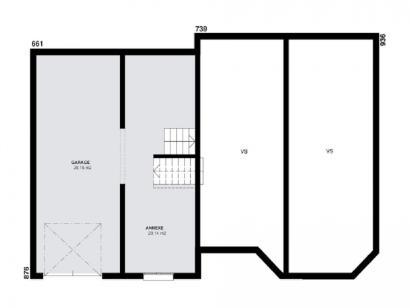 Plan de maison CRISTAL traditionnel  : Photo 1
