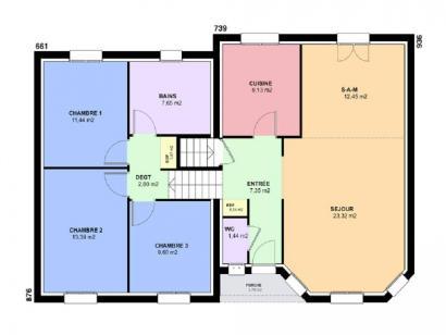 Plan de maison CRISTAL traditionnel  : Photo 2