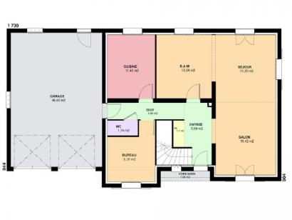 Plan de maison DIAMANT  : Photo 1