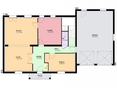 Plan de maison EMERAUDE traditionnel  : Photo 1