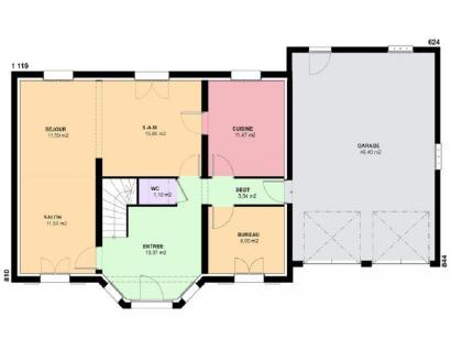 Plan de maison LOUISIANE  : Photo 1