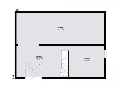 Plan de maison TOPAZE SOUS SOL traditionnel  : Photo 1