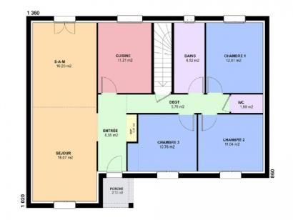 Plan de maison TURQUOISE SOUS SOL traditionnel  : Photo 2
