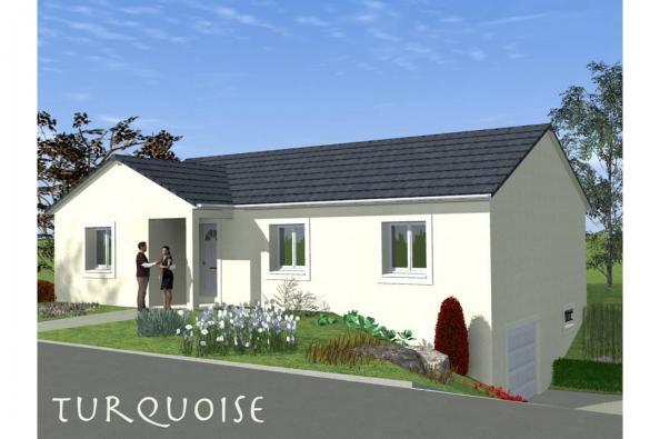 Modèle de maison TURQUOISE SOUS SOL traditionnel  : Photo 1