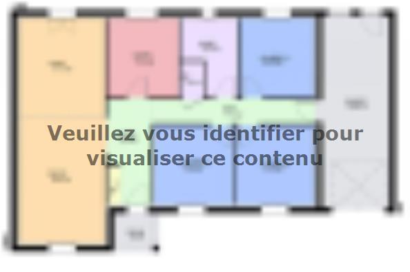 Plan de maison TURQUOISE VS traditionnel 3 chambres  : Photo 1