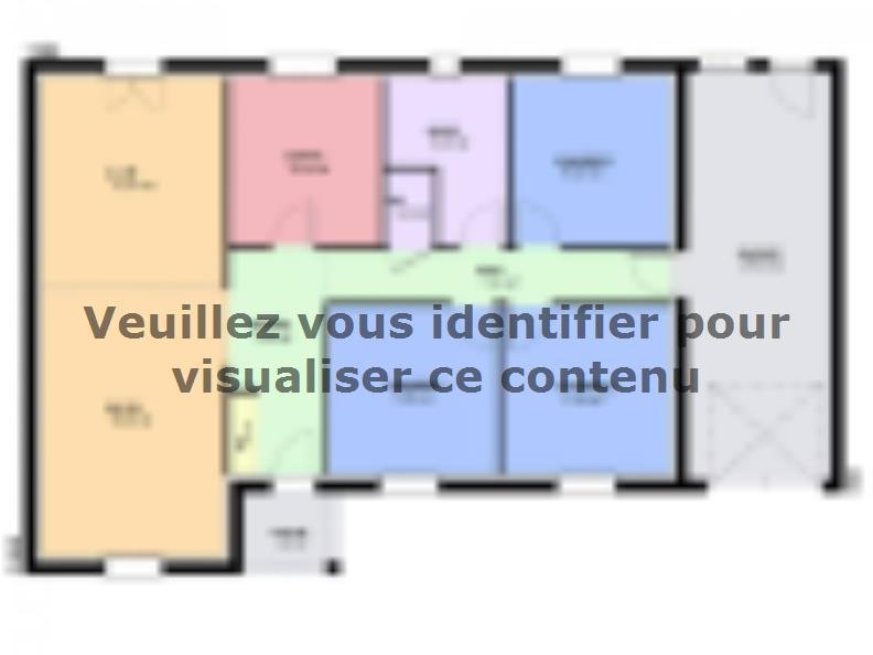 Plan de maison TURQUOISE VS traditionnel : Vignette 1