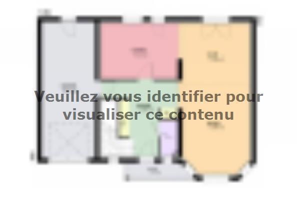 Plan de maison AMBRE traditionnel 3 chambres  : Photo 1
