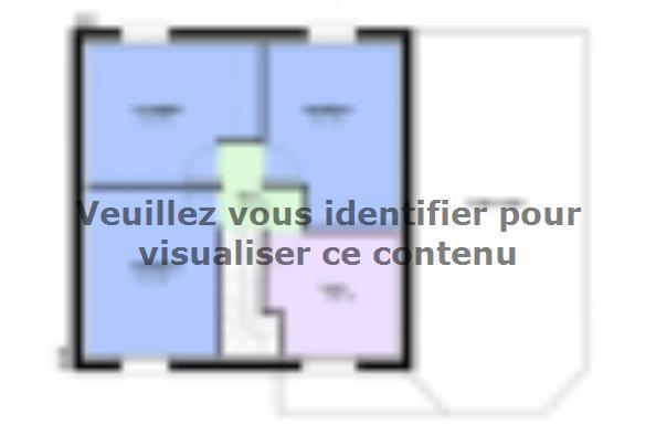 Plan de maison AMBRE traditionnel 3 chambres  : Photo 2