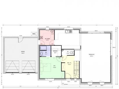 Plan de maison Avant-Projet HERBIERS - 140 m2 - 4 chambres 4 chambres  : Photo 1