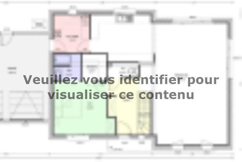 Plan de maison Avant-Projet HERBIERS - 140 m2 - 4 chambres : Vignette 1