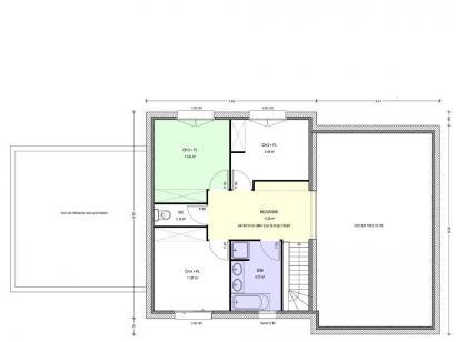 Plan de maison Avant-Projet HERBIERS - 140 m2 - 4 chambres 4 chambres  : Photo 2