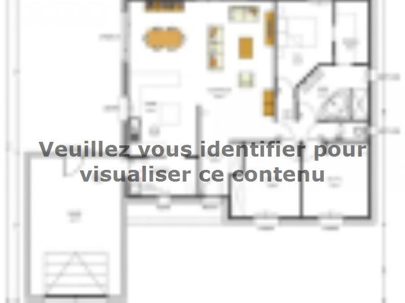 Plan de maison Avant-Projet MALLIEVRE - 100 m² - 3 chambres : Vignette 1