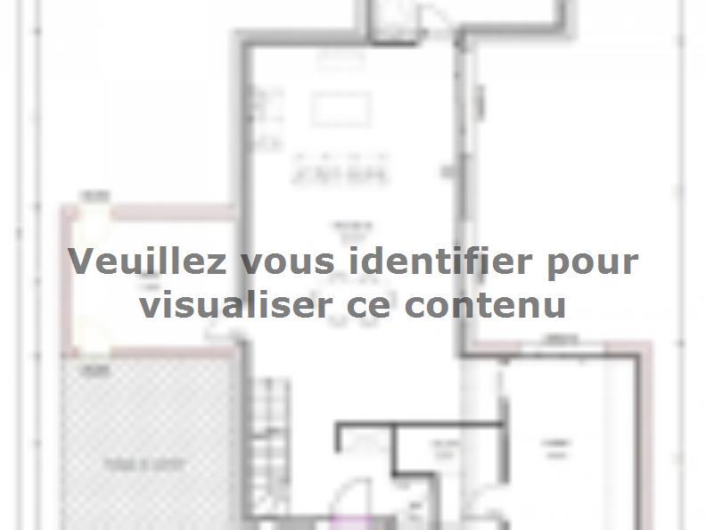 Plan de maison Avant-Projet BEAUREPAIRE - 130 m2 - 4 chambres : Vignette 1