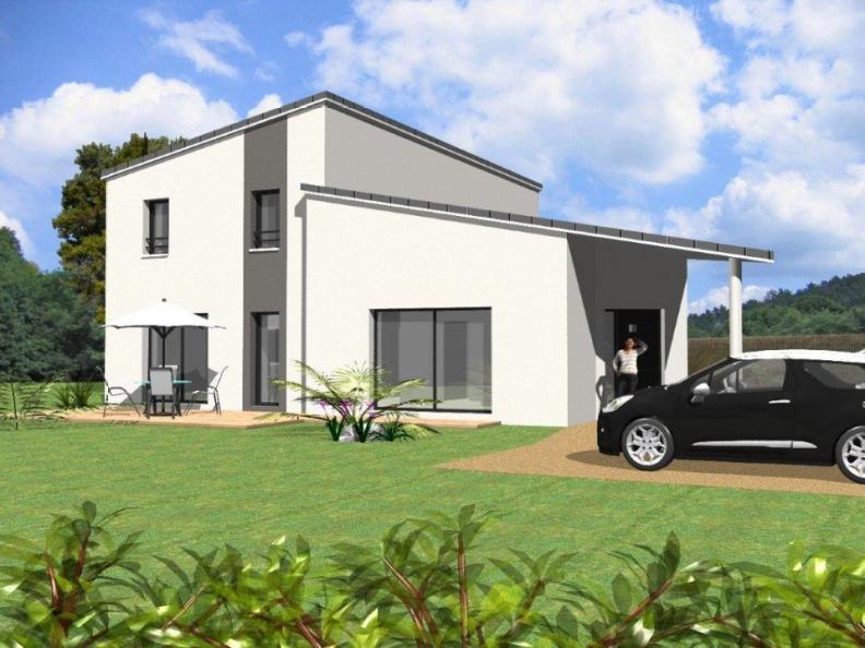 Modèle de maison Avant-Projet CEZAIS - 130 m2 - 5 chambres : Vignette 1