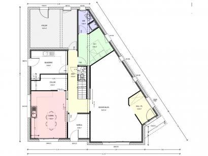Plan de maison Avant-Projet CEZAIS - 130 m2 - 5 chambres 5 chambres  : Photo 1