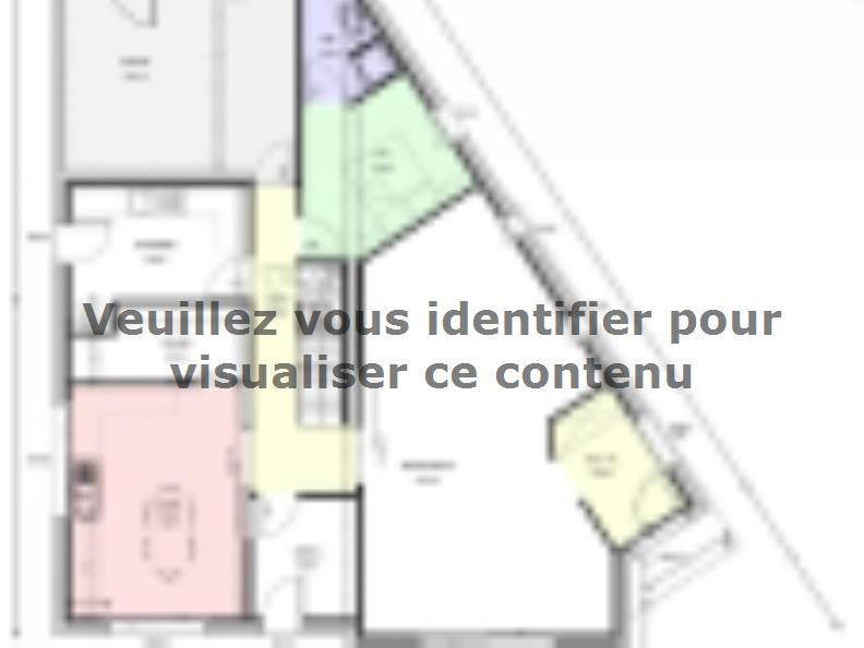 Plan de maison Avant-Projet CEZAIS - 130 m2 - 5 chambres : Vignette 1