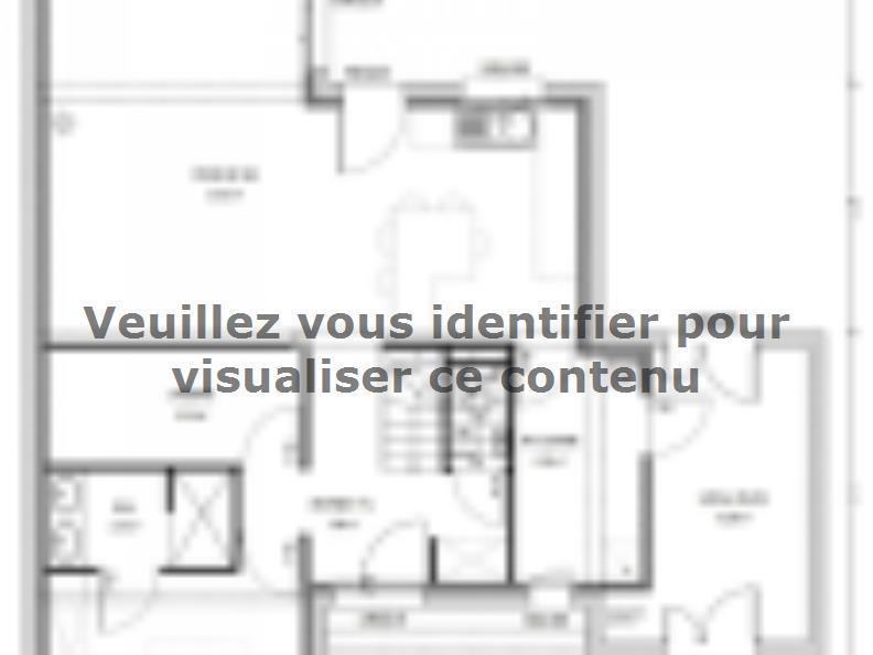 Plan de maison Avant-Projet CLOUZEAUX - 110 m² - 3 chambres : Vignette 1