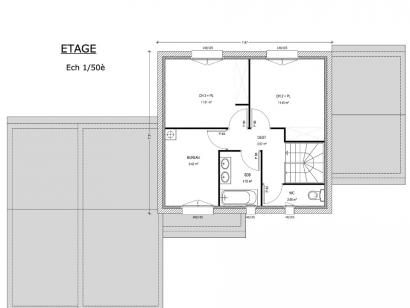 Plan de maison Avant-Projet LANDERONDE - 110 m² - 3 chambres 3 chambres  : Photo 2