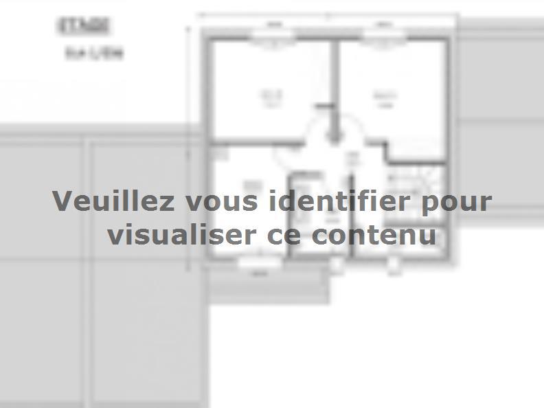 Plan de maison Avant-Projet LANDERONDE - 110 m² - 3 chambres : Vignette 2
